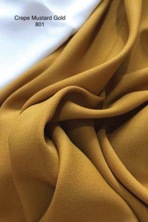 801 Como Crepe Mustard Gold