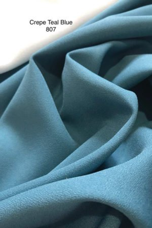 807SP Como Crepe Teal Blue