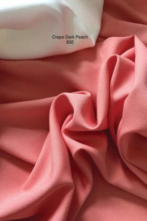 832 Como Crepe Dark Peach