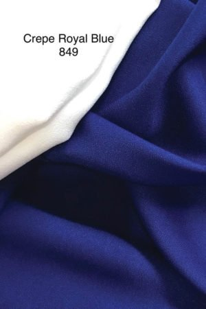 849 Como Crepe Royal Blue