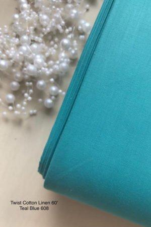 608 Linen Teal Blue