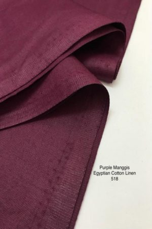 518SP Egyptian Cotton Linen Purple Manggis