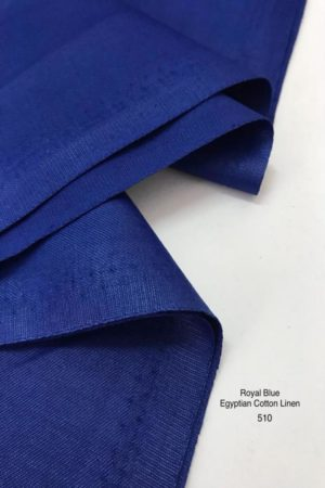 510 Egyptian Cotton Linen Royal Blue