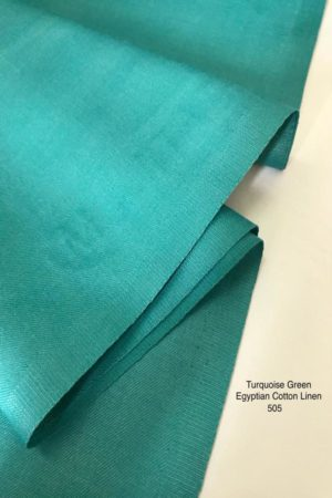 505 Egyptian Linen Cotton Turquoise Green