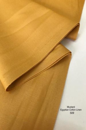509SP Egyptian Cotton Linen Mustard