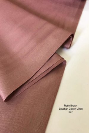 507SP Egyptian Cotton Linen Rose Brown
