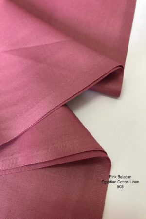 503SP Egyptian Cotton Linen Pink Belacan