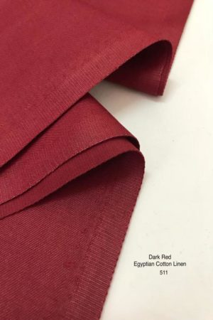 511 Egyptian Cotton Linen Dark Red