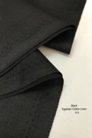 513 Egyptian Cotton Black
