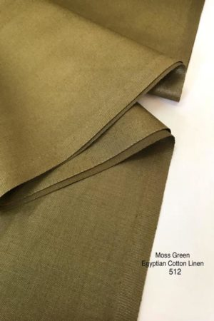 512SP Egyptian Cotton Linen Moss Green
