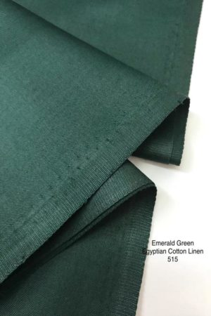 515 Egyptian Linen Cotton Emerald Green