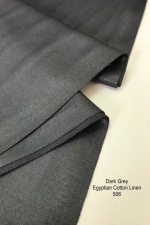 506 Egyptian Linen Cotton Dark Grey