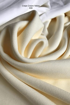 836 Como Crepe Cream Yellow