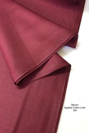502 Egyptian Linen Cotton Maroon