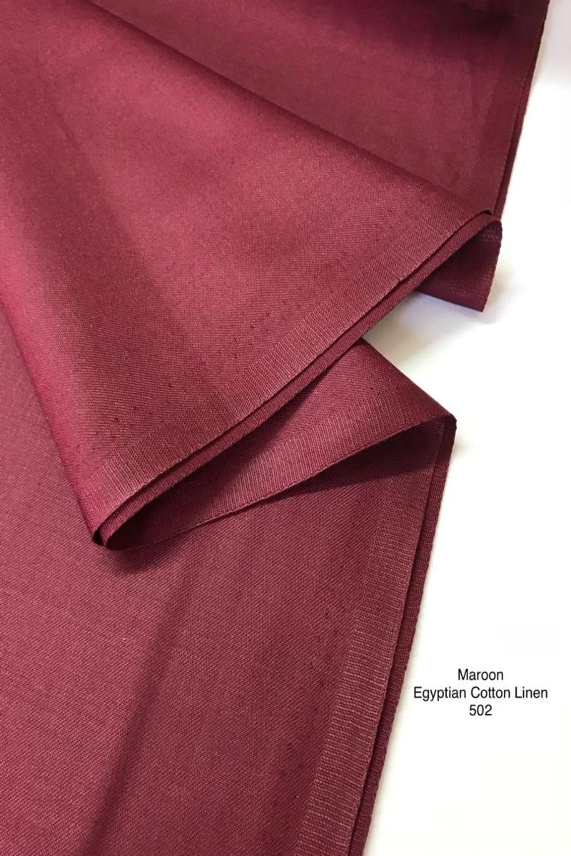 502sp Egyptian Cotton Linen Maroon